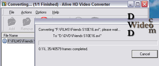 Alive HD Video Converter конвертиране